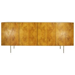 Milo Bauman for Thayer Coggin Burl Walnut Credenza