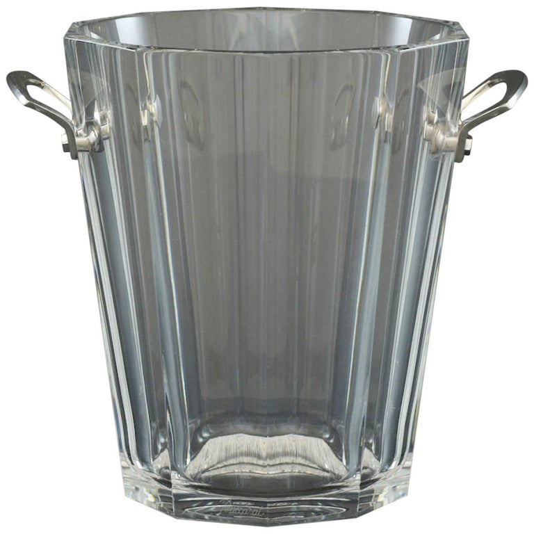 Baccarat Wine Cooler or Champagne Ice Bucket, circa 1980