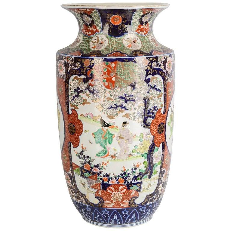 Large 19th Century Japanese Imari Vase For Sale At 1stdibs