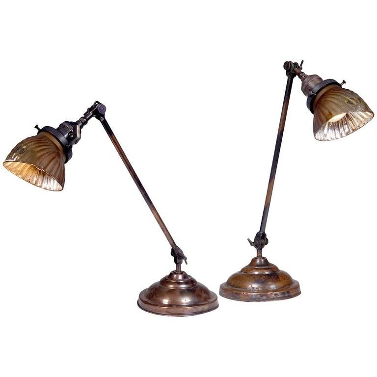 Pair of Faries Articulating Table Lamps