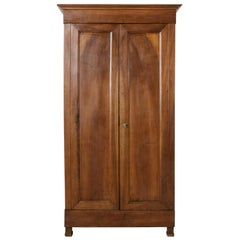 Small Scale Late 18th Century French Directoire Period Walnut Armoire or Cabinet