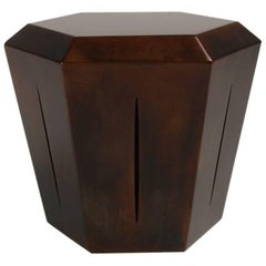 Hedra 14s, Steel Accent Table in Deep Brown Patina by Topher Gent
