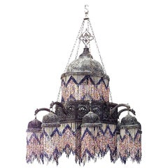 Middle Eastern Moorish Style 20th Century Two Tiered Chandelier