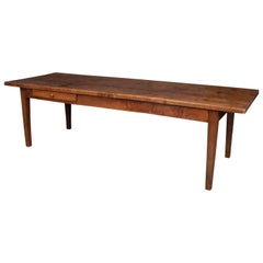 French Early 19th Century Chestnut Farmhouse Dining Table