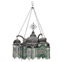 Middle Eastern Moorish Style Filigree Chandelier