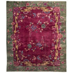 Early 20th Century Chinese Floral Nichols Rug