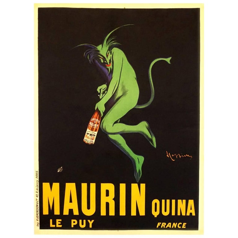 French Art Deco Liquor Advertising Poster 'Maurin Quina' by Cappiello, 1906