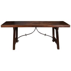 Spanish Late 18th Century Single Board Refectory Table