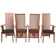 "Set of Four ""California"" Armchairs by Antonio Sibau"