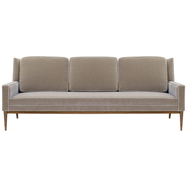 "Three-Seat ""Model 1307"" Sofa in Mohair by Paul McCobb for Directional"