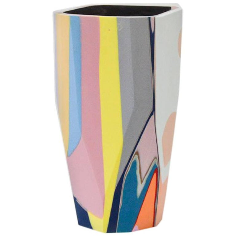 Unique Contemporary Cast Resin Vase in Amorgos