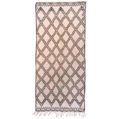Vintage Beni Ourain Moroccan Rug
