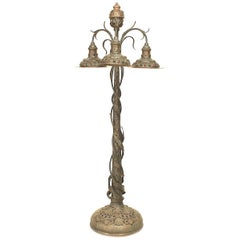 Art Nouveau, Possibly Hungarian Floor Lamp