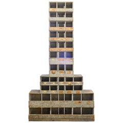 Industrial Wooden Skyscraper Cabinet