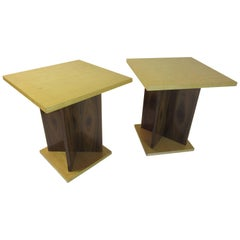 Pair of End Tables in the Art Deco Style