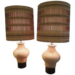William Billy  Haines Etruscan Style Ceramic Lamps from Beverly Hills CA Estate