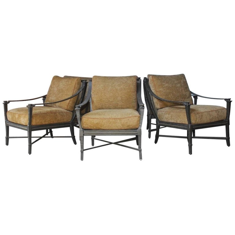 Six Andalusia Royal Lounge Chairs by Richard Frinier for Century