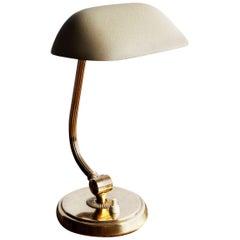 Petite Brass Nordiska Kompaniet Desk Lamp