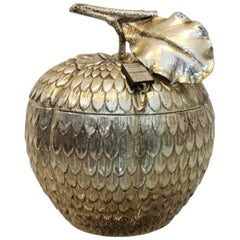 Excellent Silver 'Apple' Ice Bucket by Mauro Manetti, Italy