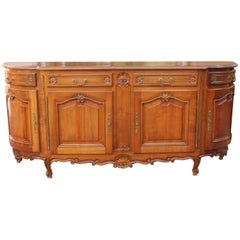 French Antique 19th Century Provencal Louis XV Sideboard or Buffet Demilune