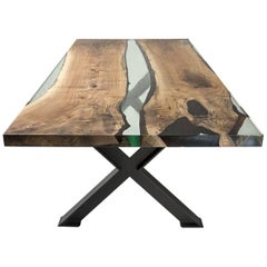 Hudson 250 Epoxy Resin Table with x Base