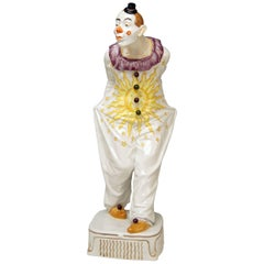 Meissen Pierrot Figurine Walking by Martin Wiegand Made 20th Century