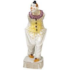 Meissen Pierrot Figurine Walking by Martin Wiegand Made 20th Century