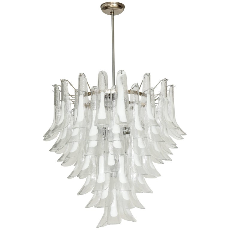Vintage Vesoi-Italy Murano Glass Chandelier, circa 1980s For Sale