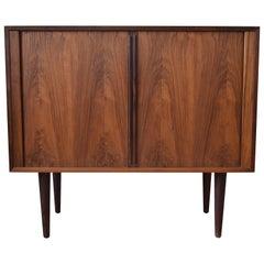 Kai Kristiansen FM Rosewood Cabinet with Tambour Doors, 1960s