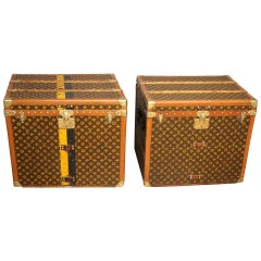 Pair of Louis Vuitton Monogram Steamer Trunks, Malles Louis Vuitton