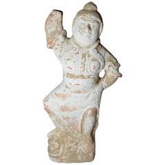 uperb Ancient Chinese Large Pottery Lokapala Tang 618-907 China 中国古董