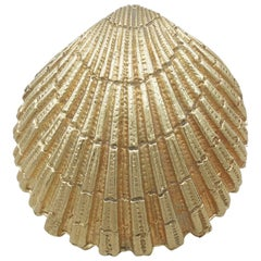 1960s American 18-Karat Yellow Gold 'Scallop Shell' Box