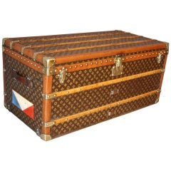 1930s Louis Vuitton Monogramm Steamer Trunk, Malle Louis Vuitton