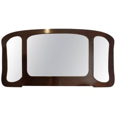 Art Nouveau Black Three Part Mirror