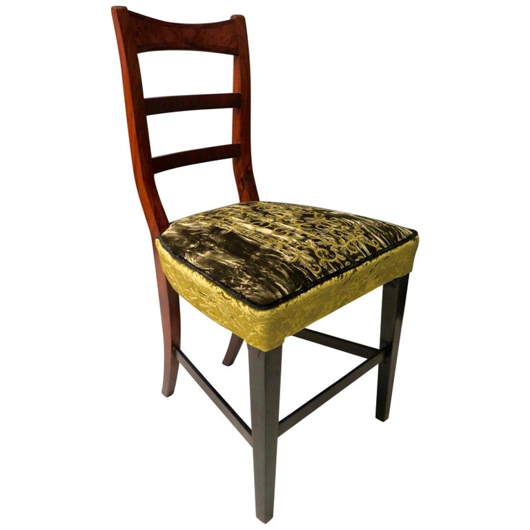 Biedermeier Walnut Wood Austrian Chair, 1820 For Sale