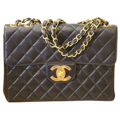 Chanel Jumbo Flap Bag in Black Lambskin