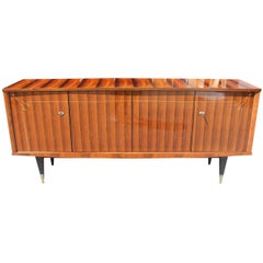 French Art Deco Macassar Ebony Sideboard / Buffet with Diamond Mother-of-Pearl