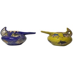 Pair of Vintage Persian Ceramic Vessel