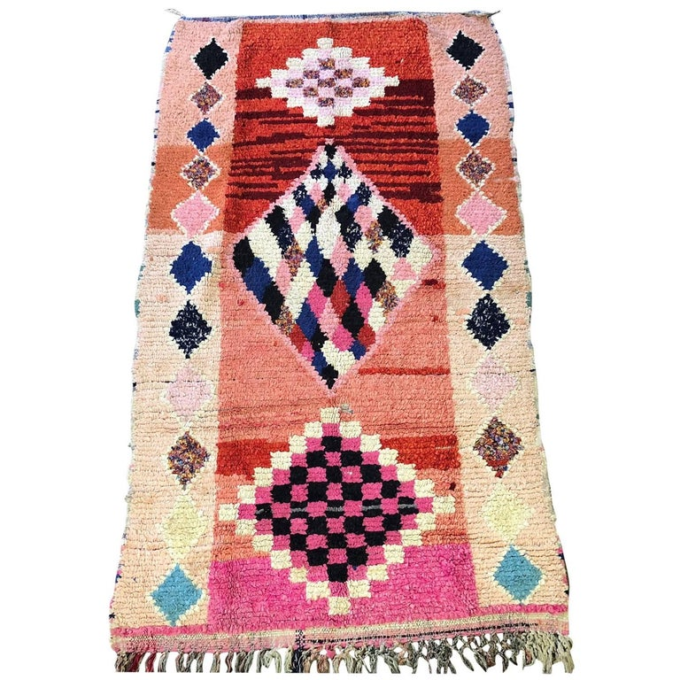 Moroccan Boucherouite Rug