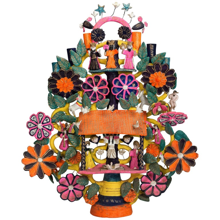 20th Century Mexican Tree of Life Candelabra