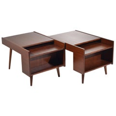 Pair of Milo Baughman End Tables for Glenn of California