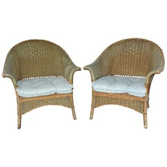 Vintage Wicker Armchairs