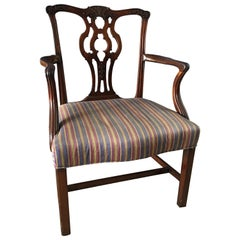 English George III Mahogany Armchair, 18th Century
