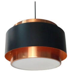 Jo Hammerborg Copper Ceiling Light Saturn, Fog & Mørup, Denmark, 1963