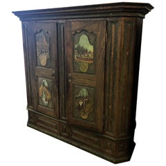 19th Century German Painted Armoire / Wardrobe