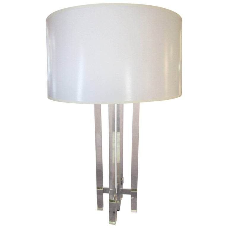 Fontana Arte 1954 Monumental Glass Table Lamp