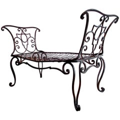 Jean-Charles Moreux Gilt Wrought Iron Settee