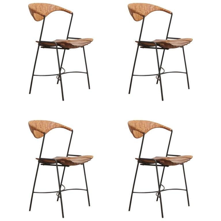 Four Arthur Umanoff Dining Chairs