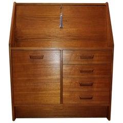 1960s Danish Modern Dyrlund Teak Secretary Desk