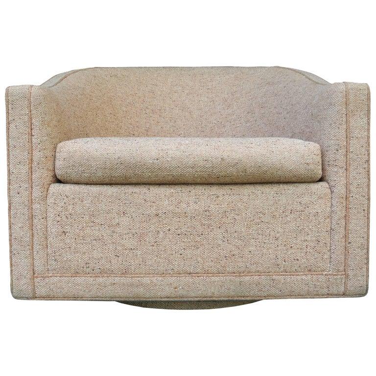 Modern Swivel Chair by Jack Lenor Larsen for Larsen Furniture